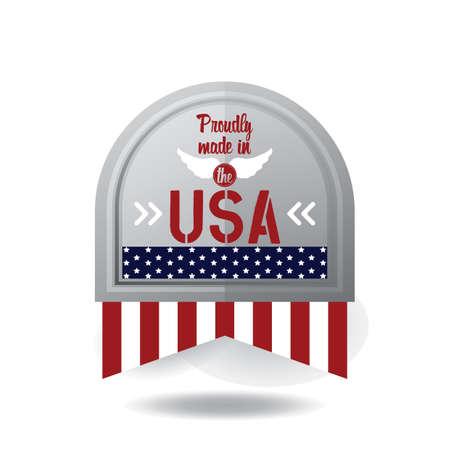 USA label illustration.