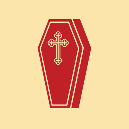 coffin with cross