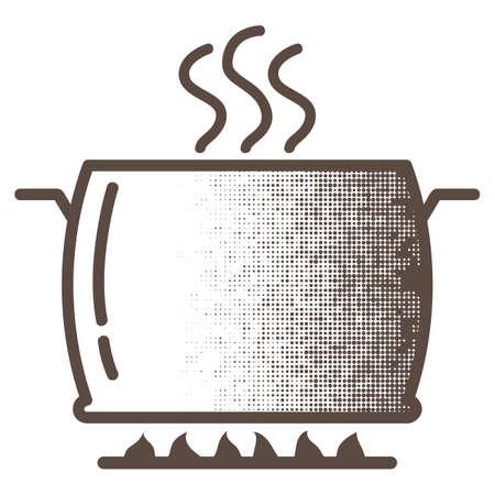 Olla de cocción en el quemador Foto de archivo - 81486394