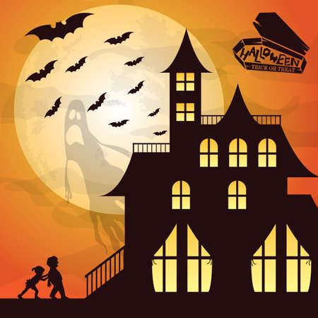 Een Halloween-achtergrondillustratie.