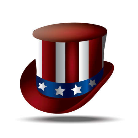 american top hat Stock Vector - 106671931