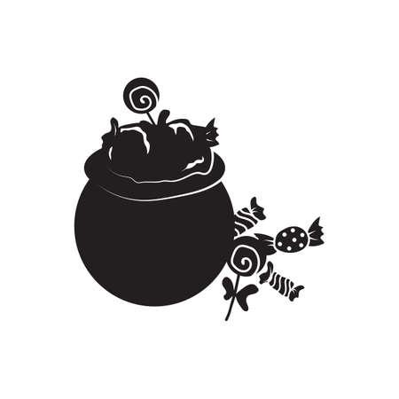 Pot with candies Illusztráció