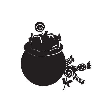 Pot with candies Illustration