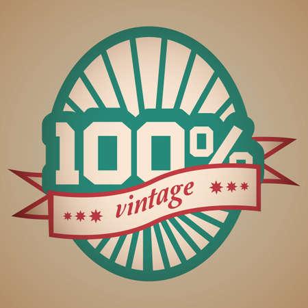 vintage label Ilustrace