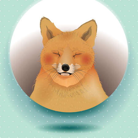 dog with closed eyes Illustration