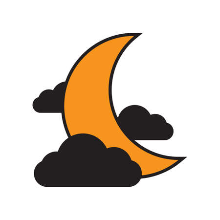 moon with some clouds Ilustrace