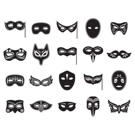 verzameling carnaval maskers