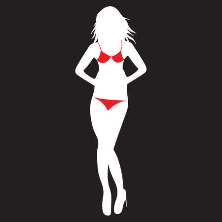 woman in bikini Çizim