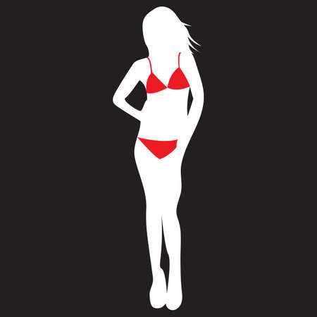 woman in bikini Illustration