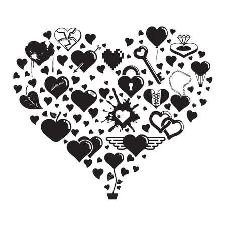 Herzform Liebe Symbole Standard-Bild - 81537536
