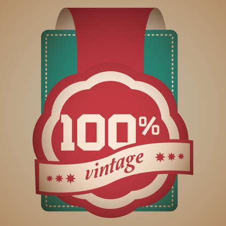vintage label Çizim