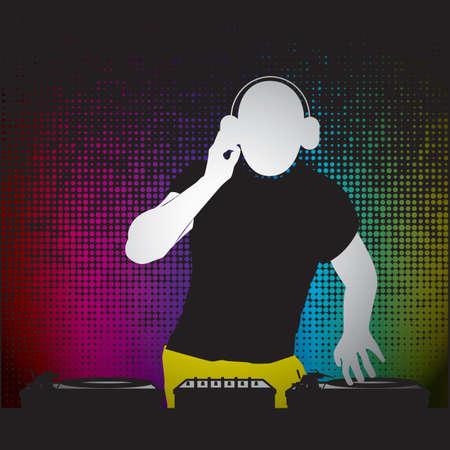 A dj illustration.