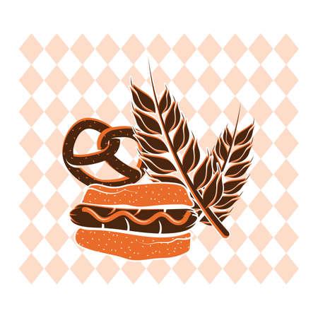 プレッツェルと小麦