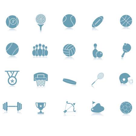 Verzameling van sport iconen