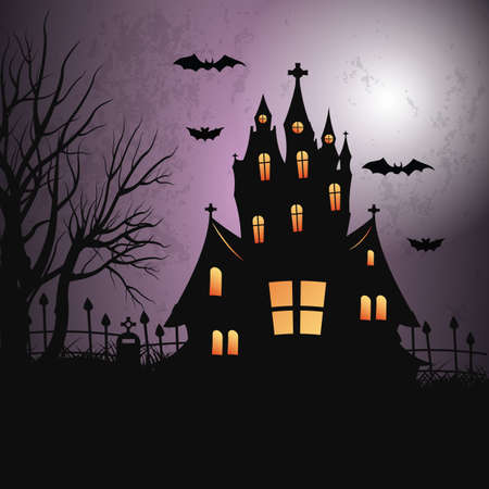 A halloween background illustration.