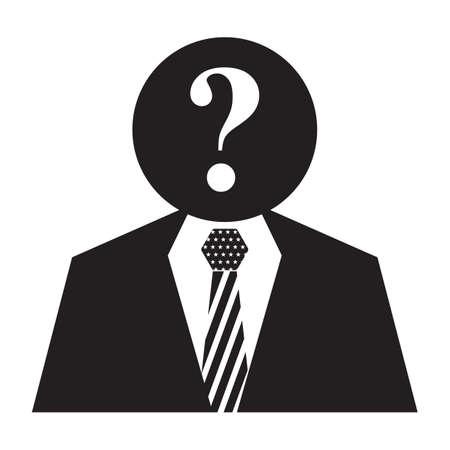 Illustrazione di un candidato elettorale. Vettoriali