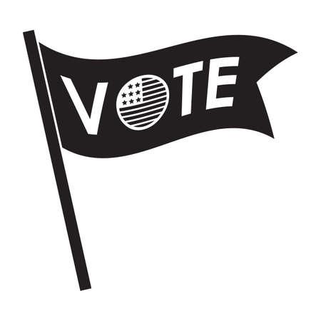 투표 깃발 그림.