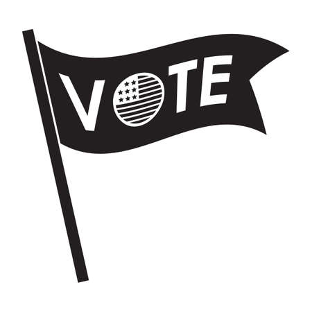 A vote flag illustration.