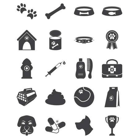 set of dog icons Illusztráció