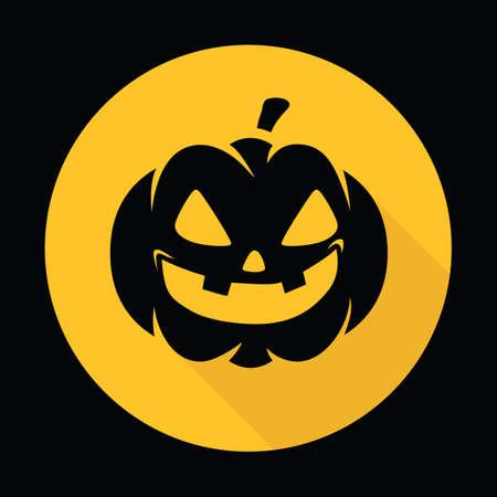 carved pumpkin face