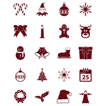 Set von Weihnachts-Icons Standard-Bild - 81420344