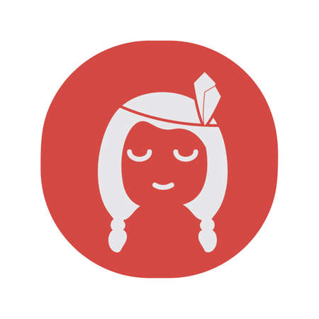 A native american girl illustration. Иллюстрация