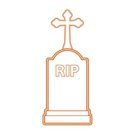 Een halloween grafsteen illustratie. Stock Illustratie
