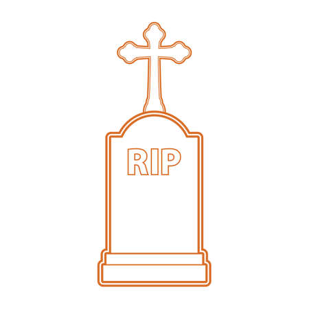 A halloween tombstone illustration. Illustration