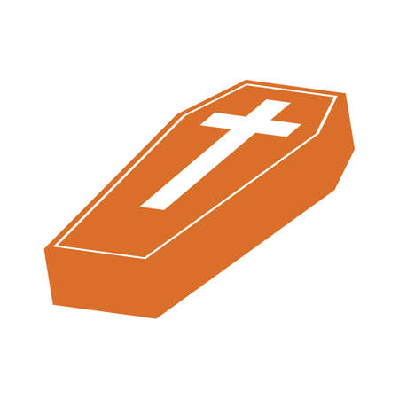 A coffin illustration. Illustration