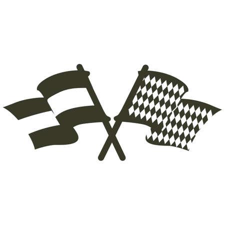 A flags illustration. Illustration