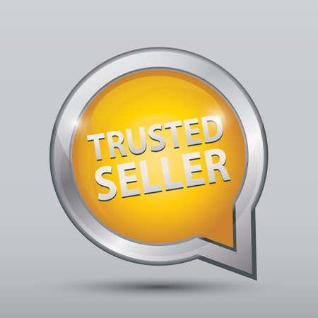 신뢰할 수있는 판매자 서명 일러스트
