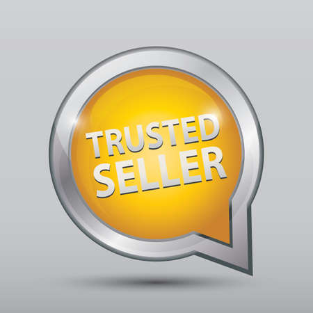 trusted seller sign Иллюстрация