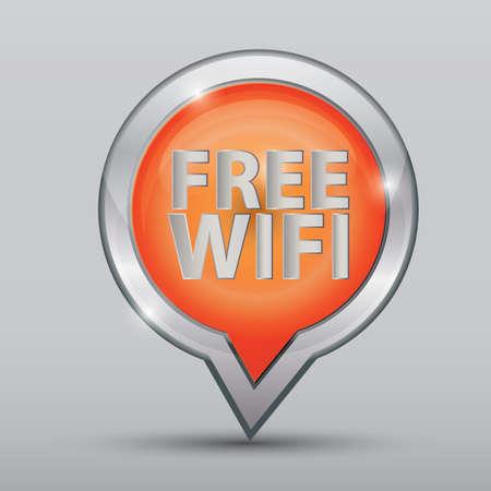 무료 Wi-Fi 위치 표시기 일러스트