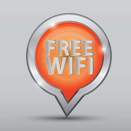 free wifi location indicator Stock Vector - 81538568