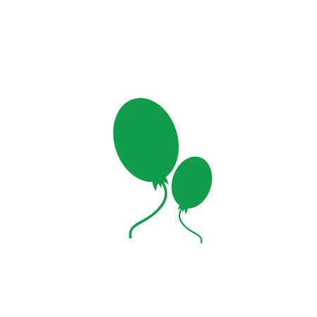 ヘリウム風船のイラストです。