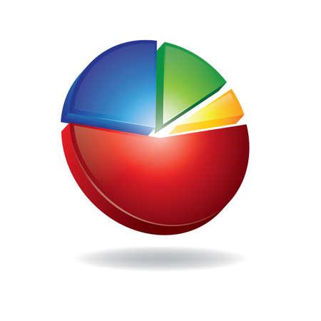 Pie diagram Stock Illustratie