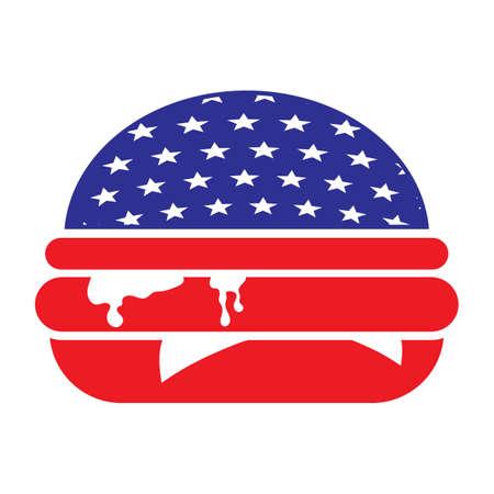 hamburger american concept  イラスト・ベクター素材