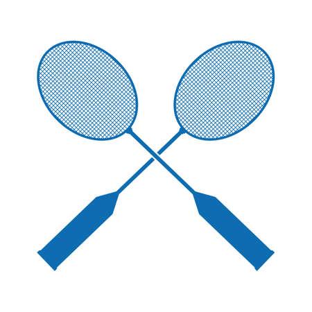 Raquettes de badminton Banque d'images - 81537543