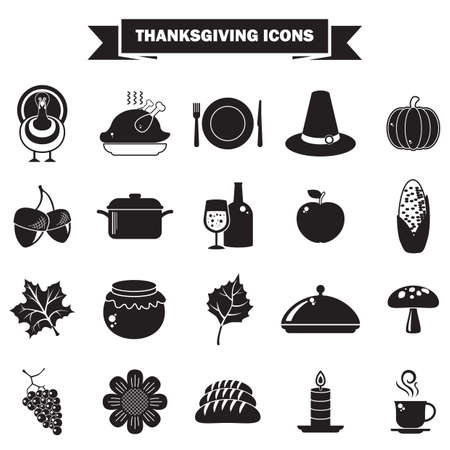 thanksgiving icons royalty free cliparts vectors and stock