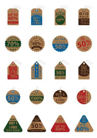 タグやラベルのコレクション  イラスト・ベクター素材