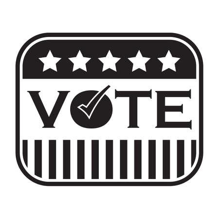 A vote sticker illustration.