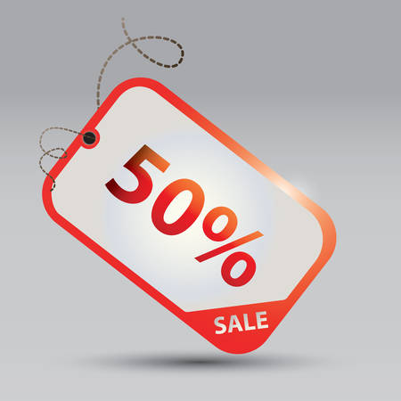 50 percent offer tag