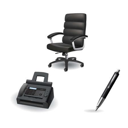 Set of office icons 版權商用圖片 - 81537551