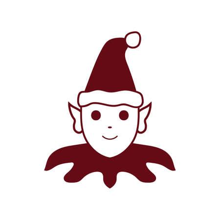 Christmas elf illustration.