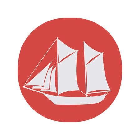 A sail boat illustration. Ilustrace