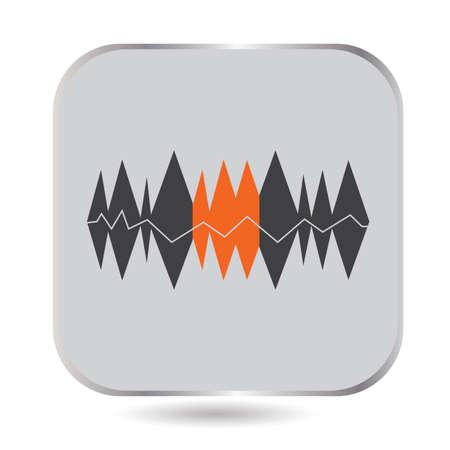 A sound wave illustration.