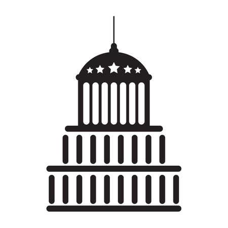 アメリカ合衆国議会議事堂の図。