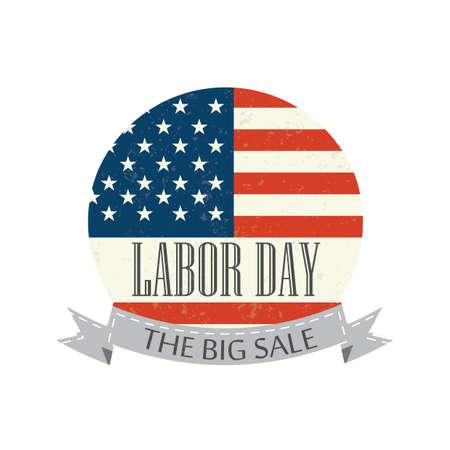 USA labor day label Vector Illustration