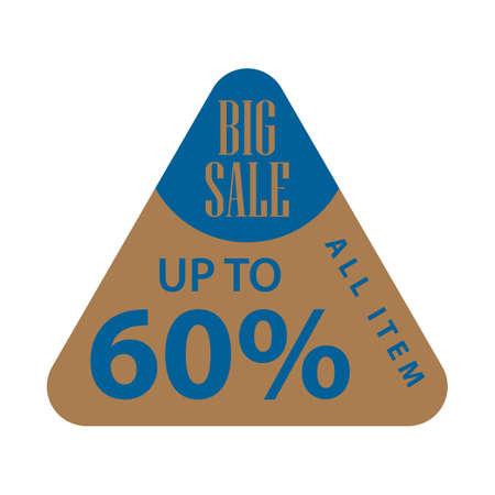 big sale label 向量圖像