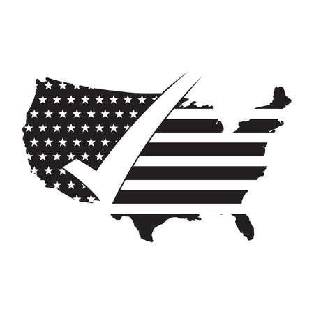 미국지도 그림입니다. 일러스트